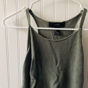 FOREVER 21 Knit Cropped Racerback Cami Top